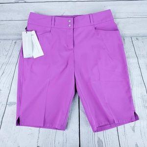 NWT Adidas Purple Golf Shorts Sz 6
